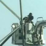 Американец шесть дней просидел на 30-метровой вышке