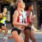 Участница марафона завершила забег в роддоме