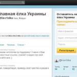 У главной елки Украины появился микроблог в Twitter