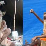Монах держит правую руку поднятой на протяжении последних 39 лет