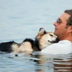 Американец ежедневно носит больного пса к озеру, чтобы тот хоть немного поспал